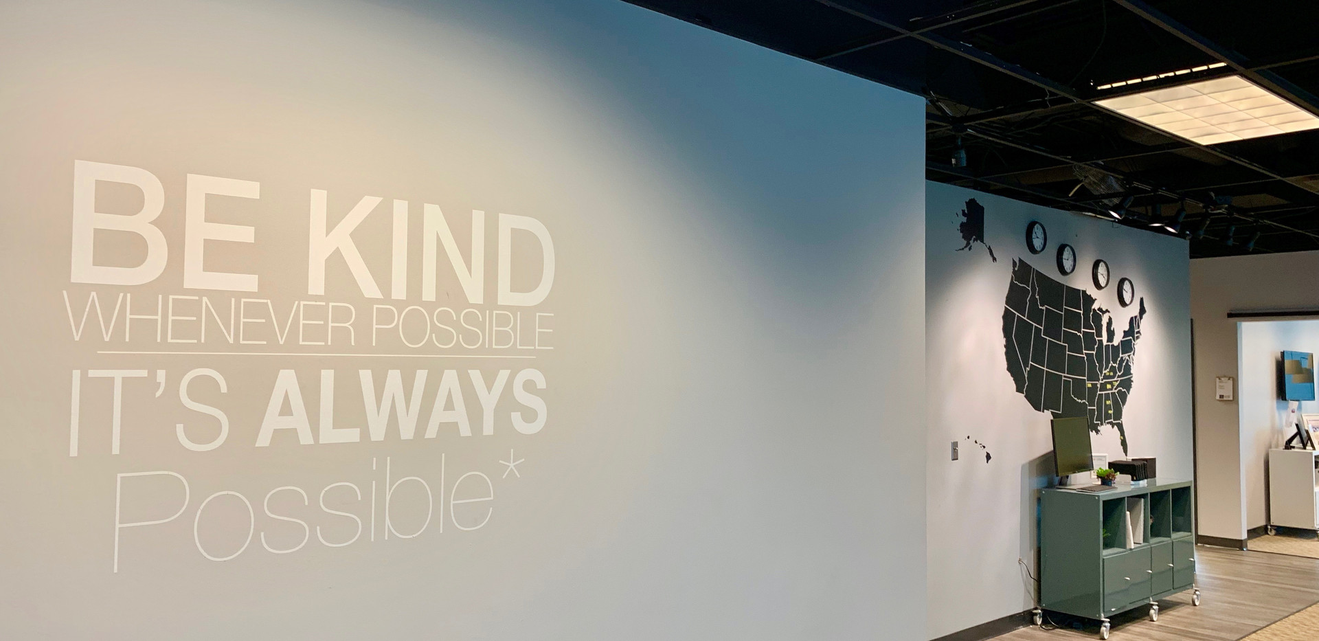 Be Kind & Map Walls