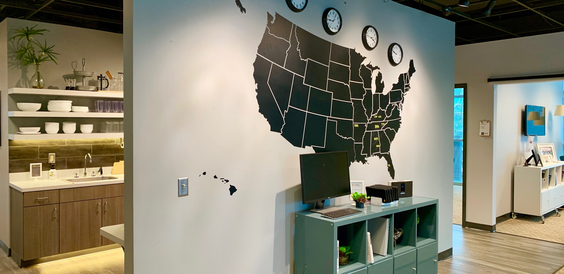 Mapwall behind Cafe