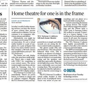The Australian - A cinema inside a pair of glasses