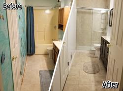 small bathroom renovations on a budg