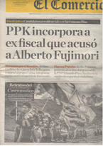 Une du quotidien El Comercio