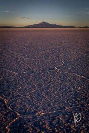 Salar d'Uyuni au coucher du soleil