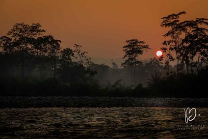 Lever de soleil sur l'Amazonie
