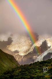 Mount Cook et arc-en-ciel