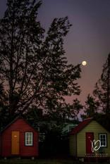 Lever de lune sur Manapouri