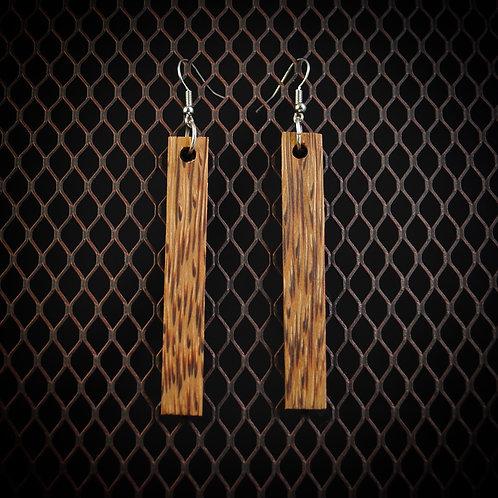 Black Palm Dangle Earrings