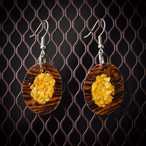 Crushed Orpiment Bocote Earrings