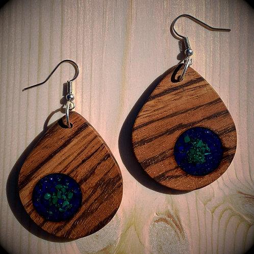 Zebrawood & Lapiz Lazuli/Malachite Inlay