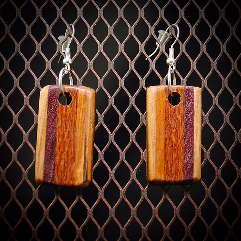 Multi Wood Exotic Earrings