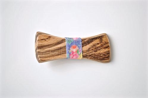 Zebra Wood & Floral Notch