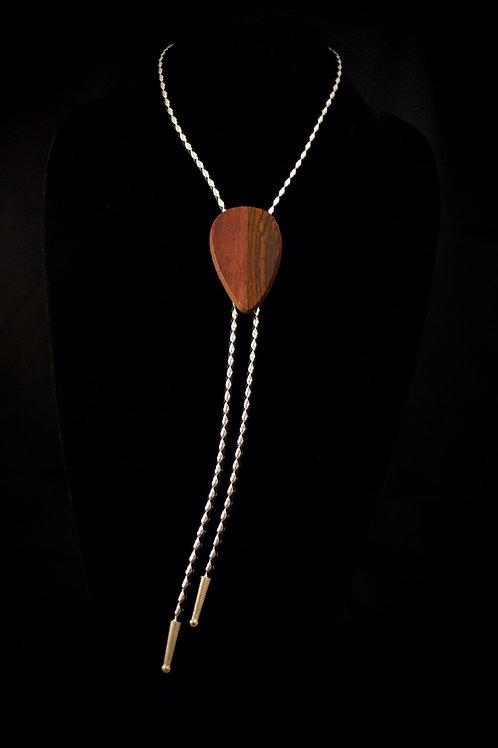 PurpleHeart & Bocote Exotic Wooden Bolo Tie