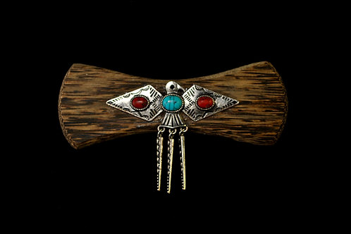 Black Palm & Native Eagle Bow Tie
