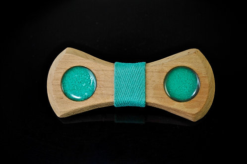 White Oak: Crushed Turquoise Bow Tie