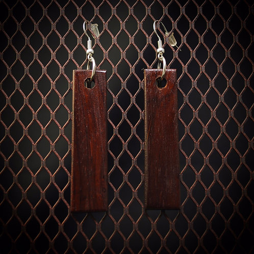 Cocobolo Bar Style Earrings