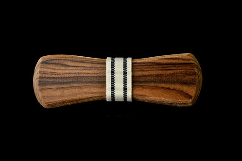 Rosewood: Black/White Striped Notch