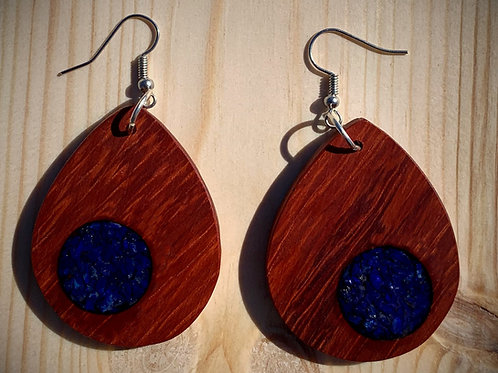 Padauk:  Lapiz Lazuli Inlay