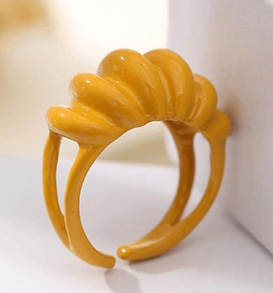 Enamel Ring -Yellow