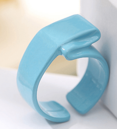 Enamel Ring -Blue