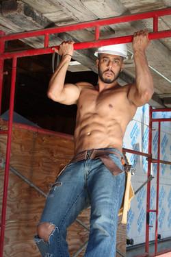Hot Sexy Construction Worker Stripper LA
