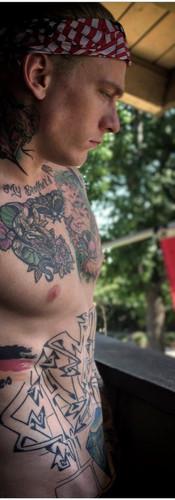 Tattooed White Male Stripper LA, CA