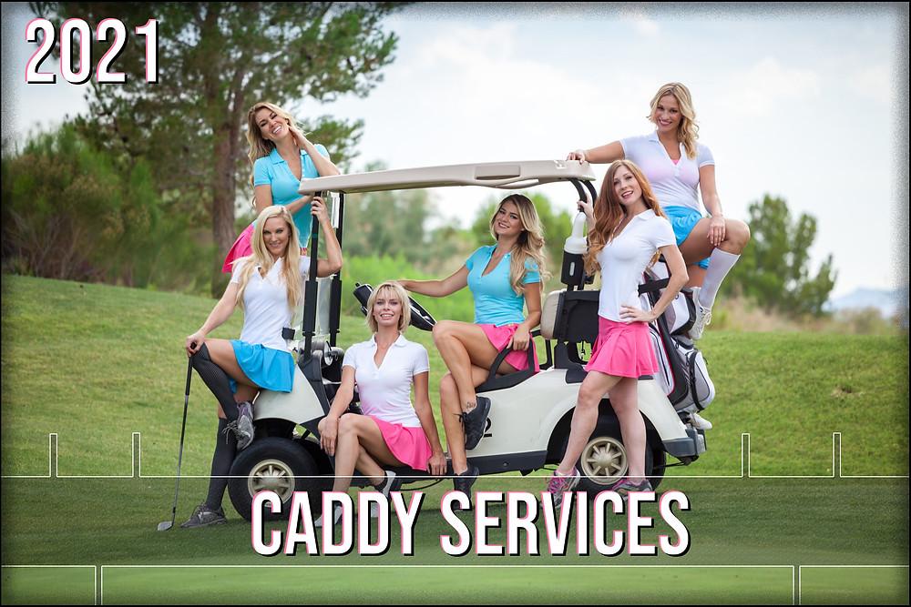 Beautiful caddy girls for golfing