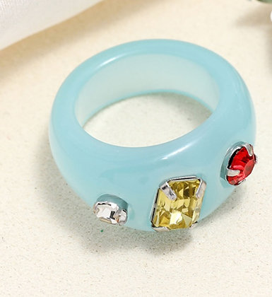 Summer Ring- Clear Blue