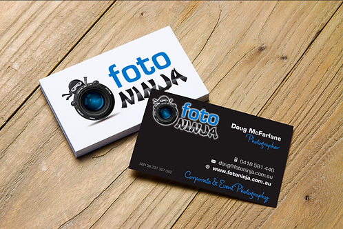 Business Cards: 90x55mm Standard 350gsm