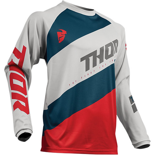 Thor MX jersey Sector Shear Light gray/red 2019