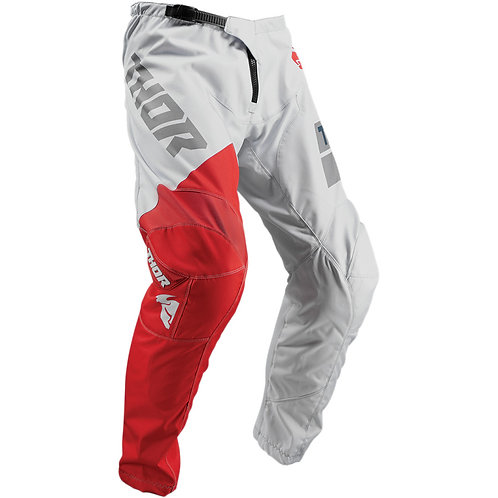 Thor MX Pants Sector Shear light gray/red 2019