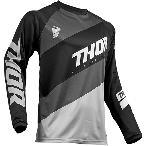 Thor MX Jersey Sector Shear black/gray 2019