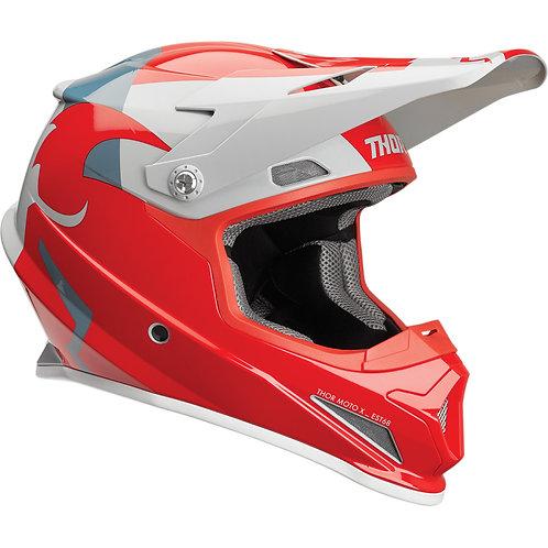 Thor Helmet Sector Shear red/light gray 2019