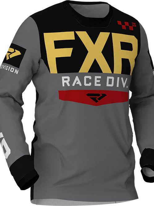 FXR Helium MX jersey char/red/gold