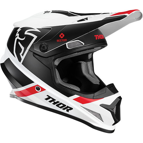 Thor Sector Split Helmet white/black