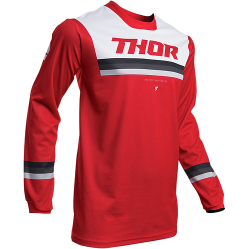 Thor Pulse Pinner jersey Red/White