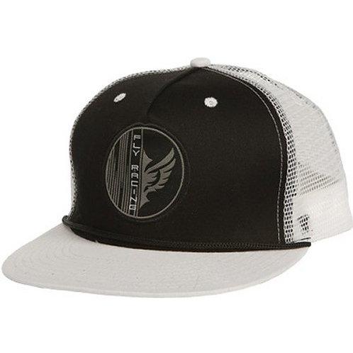 Fly racing Trucker hat black-white