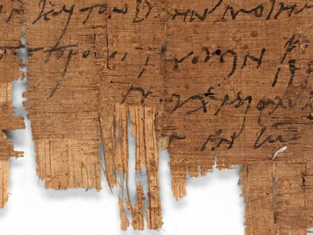 RESEARCHER IDENTIFIES 'OLDEST HANDWRITING OF A CHRISTIAN' IN ANCIENT PAPYRUS LETTER FROM ROMAN EGYPT