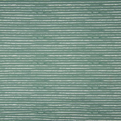 0.5m Jersey Stripes altmintgrün