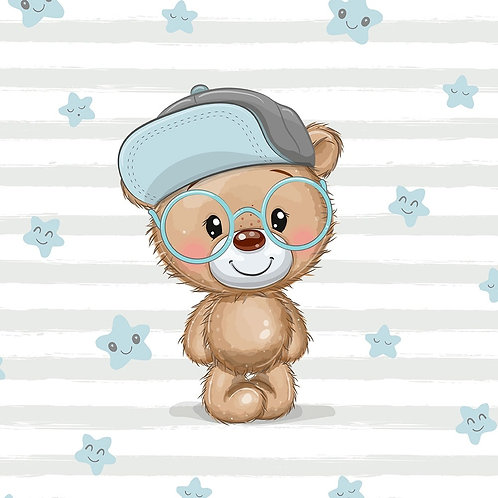 PANEL Cool Teddy 40x50cm (French Terry)