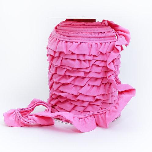Jersey Volantrüschen rosa 30mm (1 Meter)