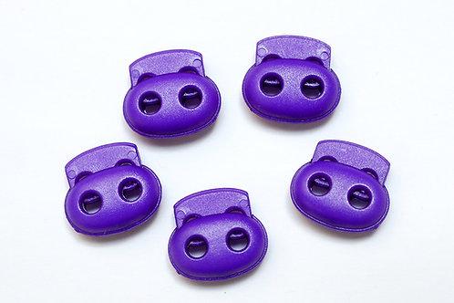 2-Loch-Kordelstopper violett (1 Stück)