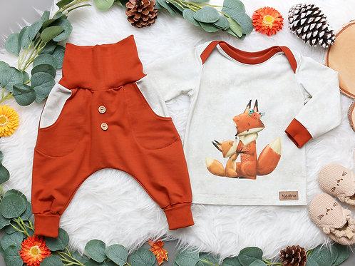 SET Herbstfüchse rost #74 (Shirt und Hose)