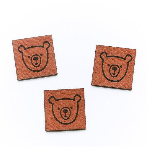 Kunstlederlabel BEAR  (1 Stück)