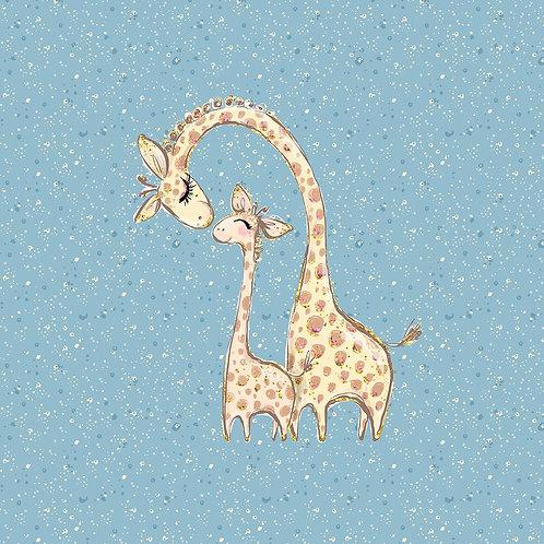 PANEL Giraffe 40x50cm (French Terry)