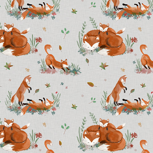 0.5m Biojersey Playful Foxes