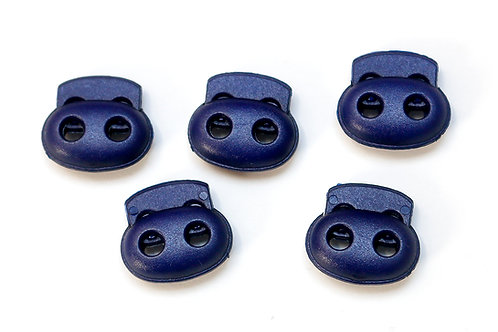 2-Loch-Kordelstopper dunkelblau (1 Stück)