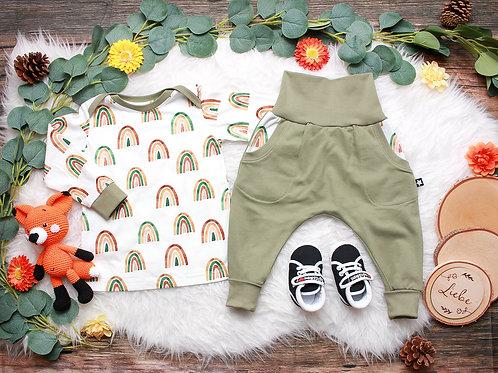 SET Shirt und Hose Kleiner Regenbogen #86
