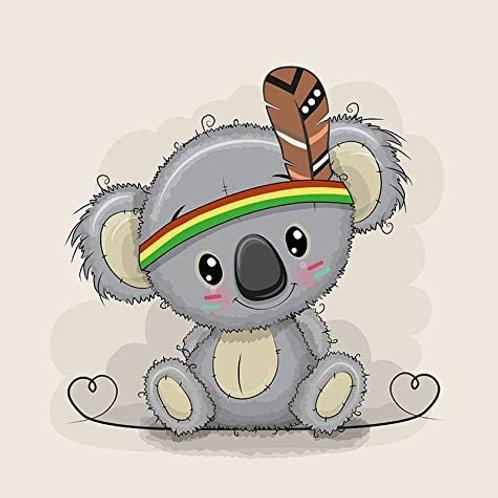 PANEL Cute Koala beige 40x50cm (French Terry)