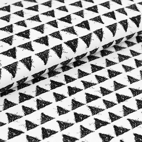 0.5m Biojersey Triangles white