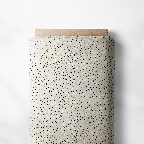 0.5m Jersey Mini Dots ecru-schwarz