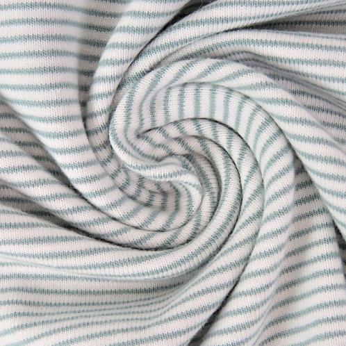0.5m Jersey Mini Stripes altmintgrün-weiß